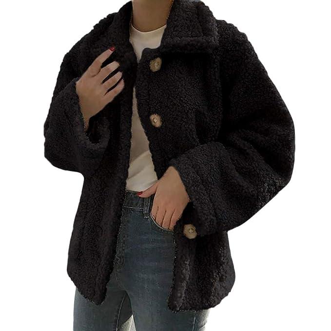 Linlink Mujeres Invierno Caliente Outwear Mujeres cálidas de Lana Artificial Abrigo Chaqueta Solapa Caliente Abrigos de Invierno: Amazon.es: Ropa y ...