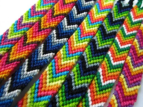 "#4438 Fifty Random 1""Wide Artisan Woven Friendship Bracelet Assorted School Peru from Unknown"