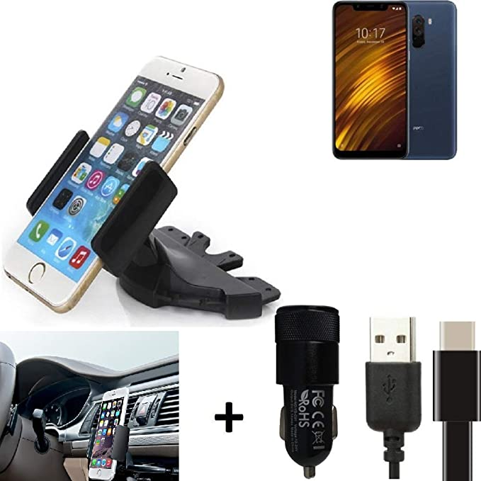 K-S-Trade® Top Set Compatible con Xiaomi Pocophone F1 Soporte ...