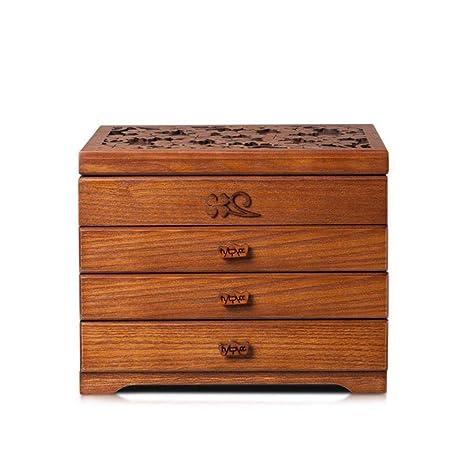 Hongge Caja Joyero,Madera Multicapa Caja Madera Manualidades joyería Cajas decoración