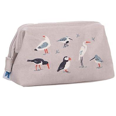 3d45855652 Cosmetics Purse RSPB Cream Birds Make Up Bag Ladies Birds Print Seagull Puffin  Wading Bird Gulls  Amazon.co.uk  Shoes   Bags