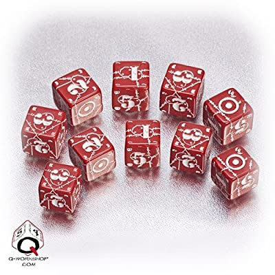 Q WORKSHOP Axis & Allis - United Kingdom Dice: Red/White (5) Board Game: Toys & Games