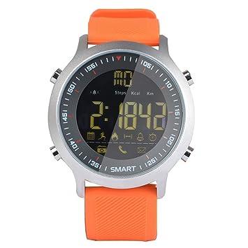IP67 Impermeable EX18 Bluetooth Reloj Inteligente Soporte De Llamadas Y SMS Alerta Podómetro Deportes Actividades Reloj