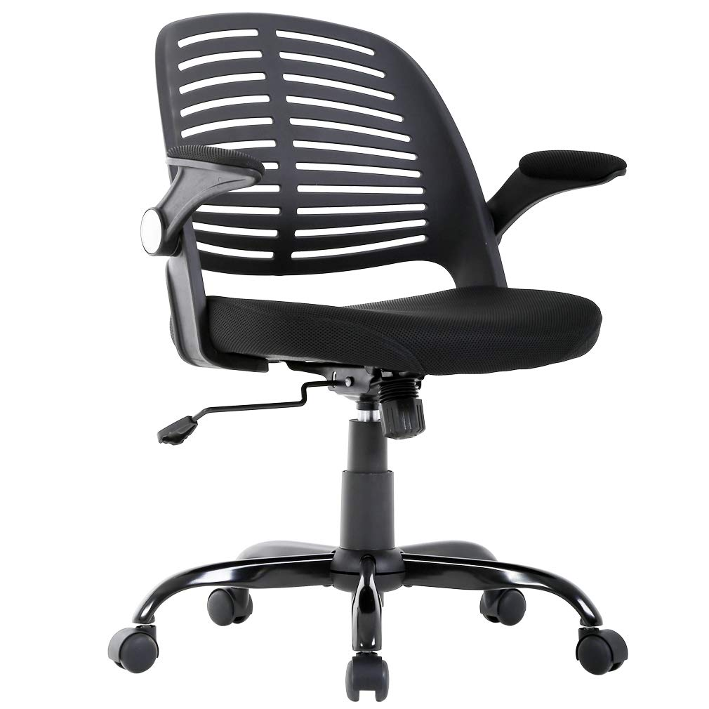 Bestmassage home office chair desk computer ergonomic swivel executive rolling chair with arms lumbar support task mesh chair heavy duty mid back metal