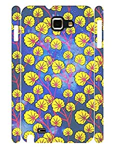 Morden Theme Smart Phone Case With Galaxy Floral Pattern Hard Plastic Case Cover for Samsung Galaxy Note I9220