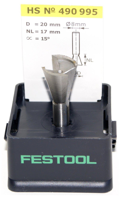 FESTOOL Grat-/Zinkenfrä ser HS Schaft 8 mm - Verschiedene Durchmesser Durchmesser: 20 mm Festool Zubehör
