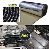LINGDA 21.53 SqFT 10mm Heat Shield Thermal Sound Insulation Proofing Deadener Mat Car