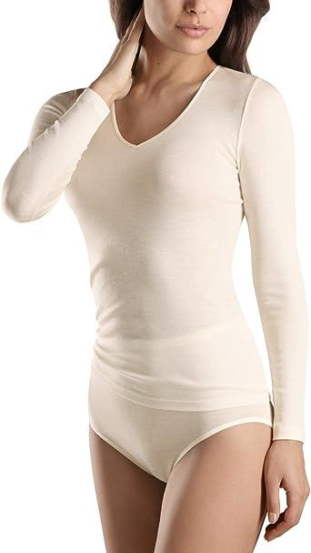 Hanro - Camiseta Interior para Mujer, Talla M, Color Hueso (Cygne): Amazon.es: Ropa y accesorios