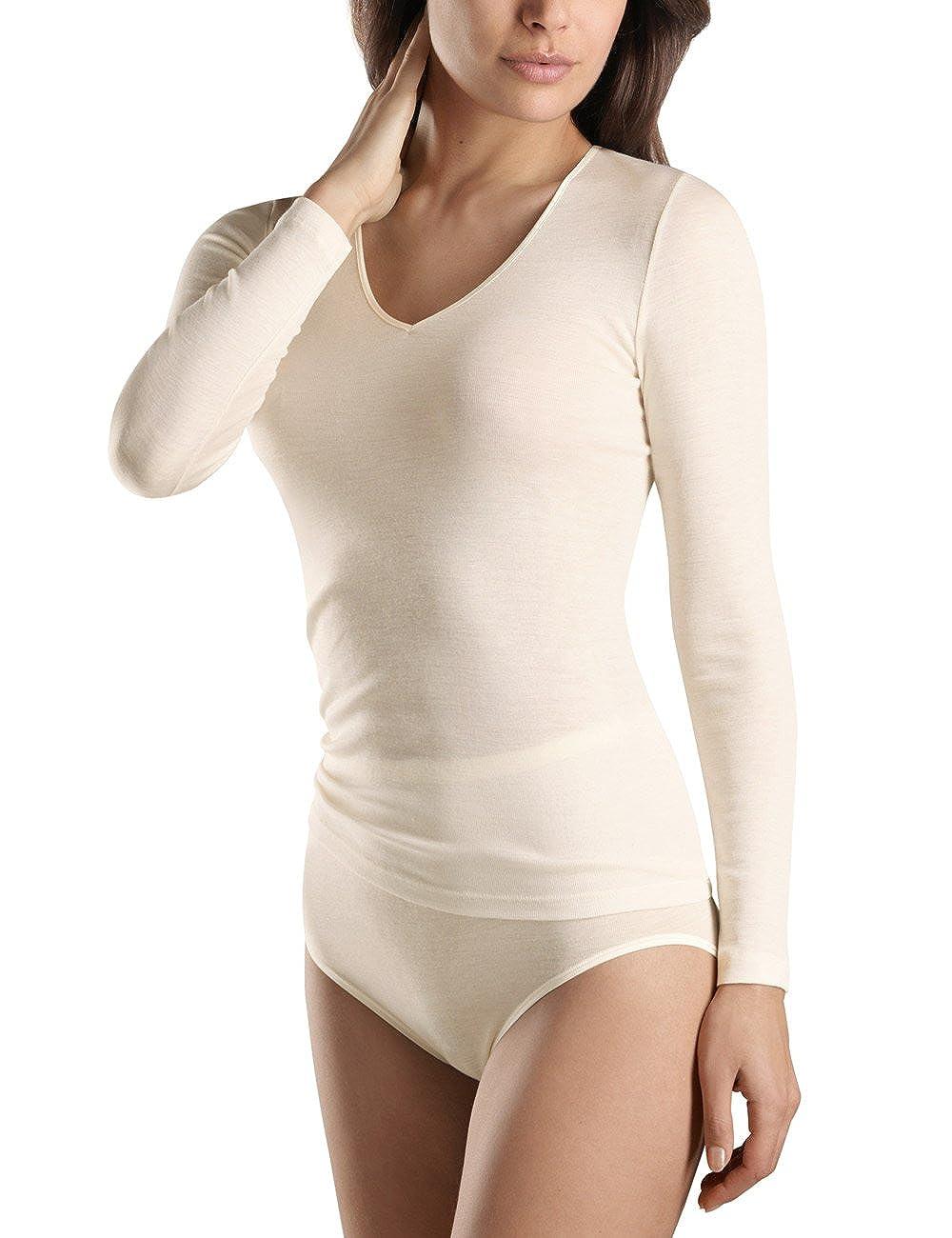 Women/'s HANRO Womens Woolen Silk W Long Sleeve Shirt 71418 HANRO Women/'s Woolen Silk W Long Sleeve Shirt 71418 Hanro USA Inc.