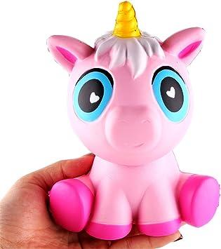Squishy Unicornio Kawaii, Squishies Slow Rising Jumbo Kawaii Unicornio Aroma cremoso para niños Juguetes de Fiesta Stress Reliever Toy: Amazon.es: Electrónica