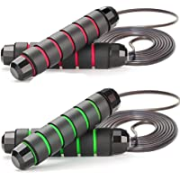 ZODAE Jump Rope Tangle-Free Ball Bearings Speed Skipping Rope Cable, Jumping Ropes with Memory Foam Ideal for Crossfit…