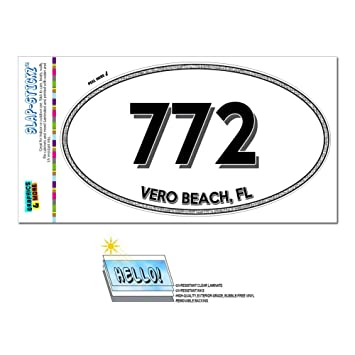 Amazoncom Graphics And More Area Code Oval Window Sticker - 772 area code