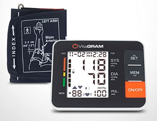 Amazon.com: VitaGRAM Electronic Blood Pressure Moniter PG-800B11 Home Use: Health & Personal Care