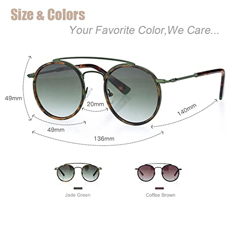 Amazon.com: Sunglasses Women Men Retro Fashion Round Glasses ...