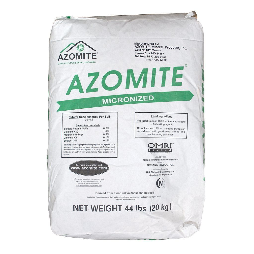 amazon com azomite micronized bag 44 lb fertilizers garden