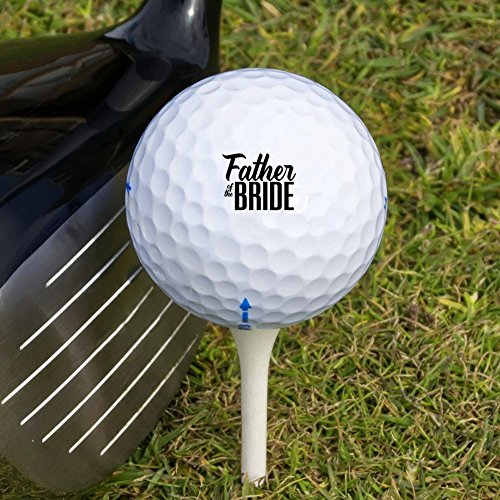 Father of the Bride Wedding Novelty Golf Balls 3 Pack by Graphics and More (Image #2)