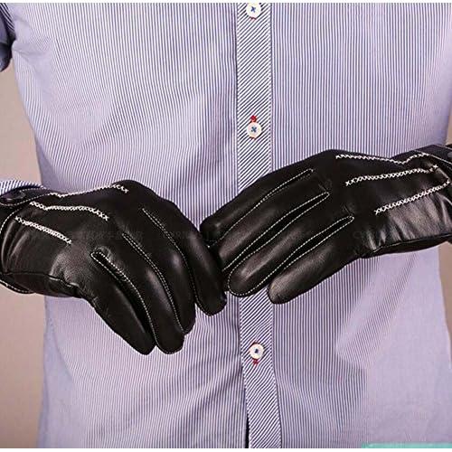 dbfe2785392a Guantes de cuero de conducción de dedo completo de los hombres Clásico de  piel de cordero ...