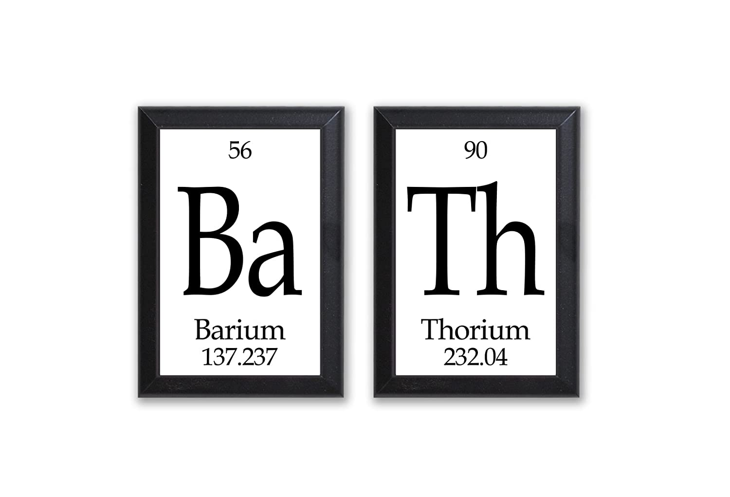 Amazon.com: Bath Periodic Table of Elements Plaque - 2 Piece Set ...