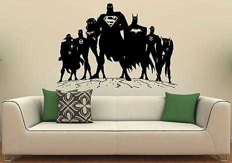 Superman Wall Decal Wall Vinyl Sticker DC Comics Superhero Interior Home  Art Wall Murals Bedroom Home
