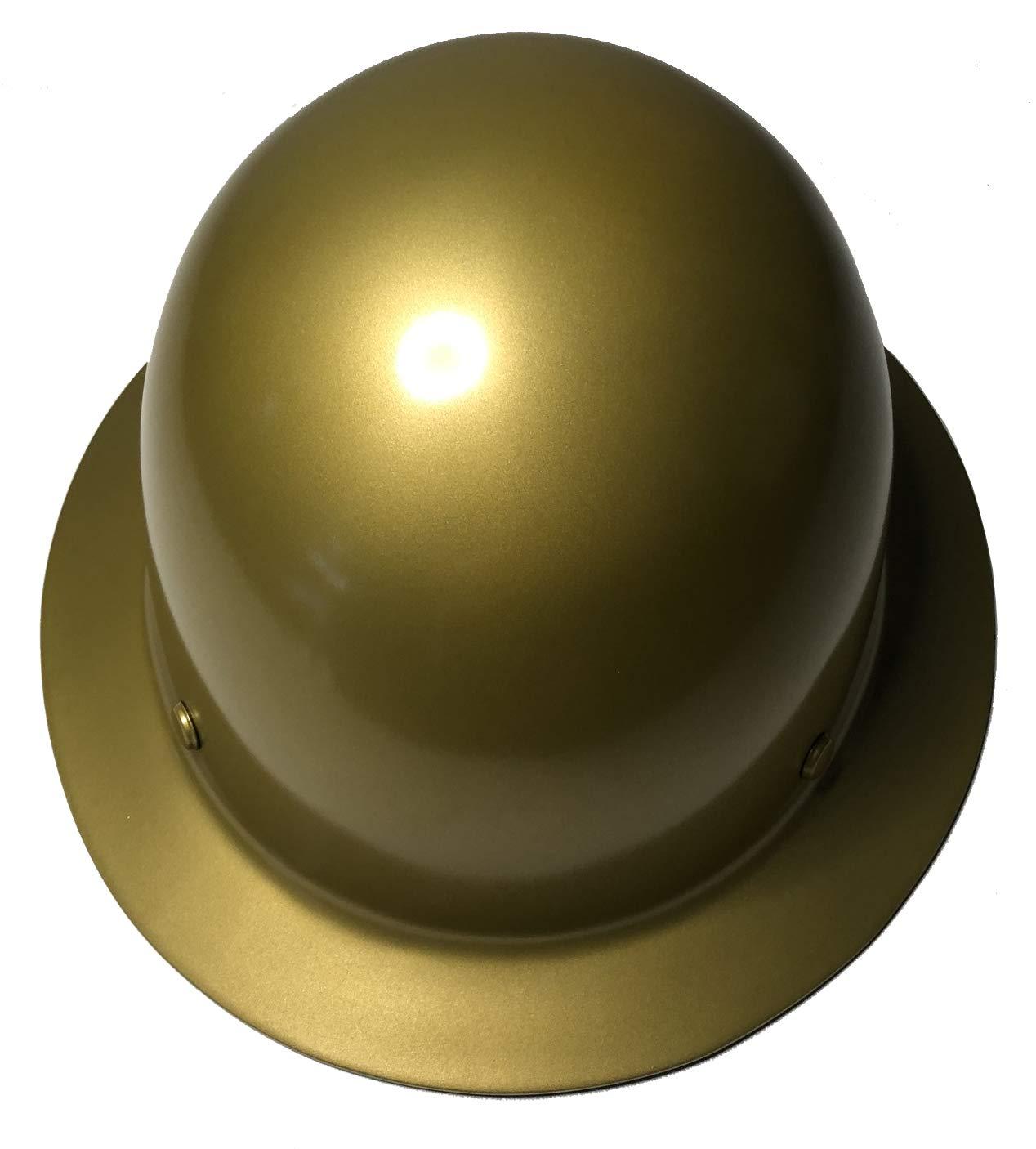 Hard Hat MSA Skullgard Full Brim Custom Gold Metallic Satin by Bag R Buck (Image #4)