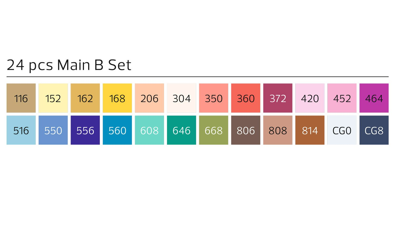 Stylefile Grafikmarker 24er Set B by StylefileMarker