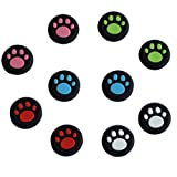 Silicone Antislip Rubber Analog Stick Grips(4 Pairs 8 Pcs) for Playstation PS4 Controller