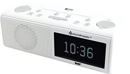 Soundmaster UR8350WE - Radio (Reloj, Digital, Dab+,FM, LCD, Monocromo
