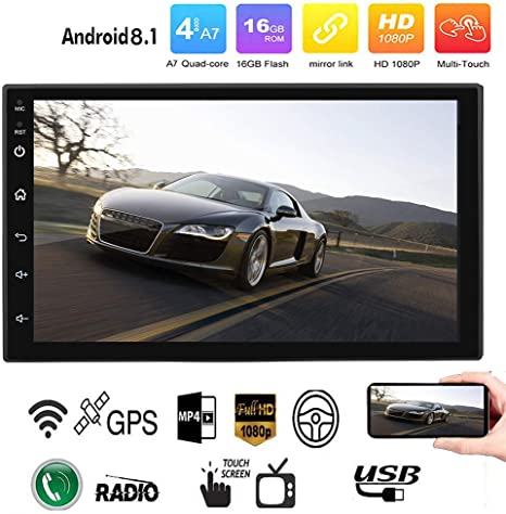 Binize Android 8.1 GPS Navigation for Car Stereo Radio Quad Touch Screen 7 inch in Dash Auto Video Double 2Din Multimedia no DVD Player Mp3 Mp5 with ...