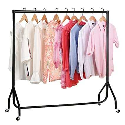 Clothes Rail 4ft 5ft 6ft Heavy Duty Display Clothing Garment Stand Rack on Wheel