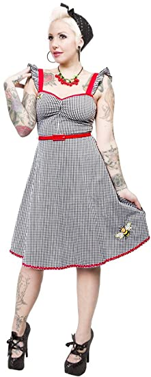 4efac2c44cf47a Amazon.com: Gingham Bee Mine Dress from Sourpuss Clothing: Clothing