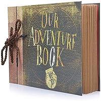 Photo Album Scrapbook, Our Adventure Book, DIY Handmade Album Scrapbook Movie Up Travel Scrapbook for Anniversary, Wedding, Travelling, Baby Shower, etc (Travel Scrapbook)