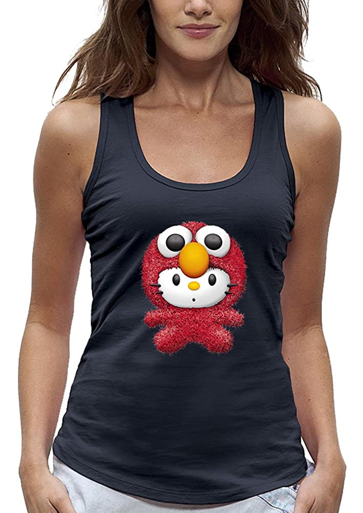 PIXEL EVOLUTION Camiseta sin Mangas 3D Elmo Hello Kitty de Realidad Aumentada Mujer: Amazon.es: Ropa y accesorios