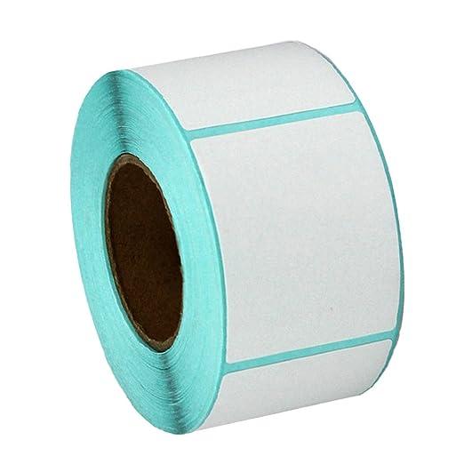 Sharplace 400 Piezas Etiquetas Adhesivo Térmico de Impresora ...