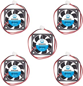 WINSINN 40mm Fan 24V Dual Ball Bearing Brushless 4010 40x10mm for Cooling Creality Ender 3 / Pro - High Speed (Pack of 5Pcs)