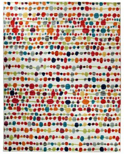 mohawk home strata delerus dotted printed area rug multicolor - Colorful Area Rugs