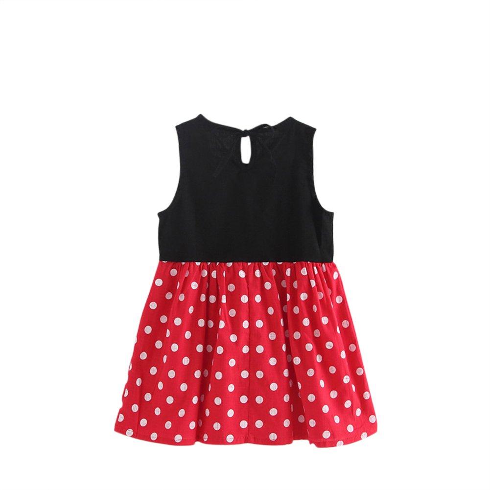 Wongfon Kleinkind Mädchen ärmellose Baumwolle gedruckt Sommerkleid ...