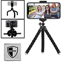 "GearFend 6.5"" Flexible Universal Tripod, Smartphone Tripod Mount for All iPhones, Samsung Phones and Most Mobile Phones…"
