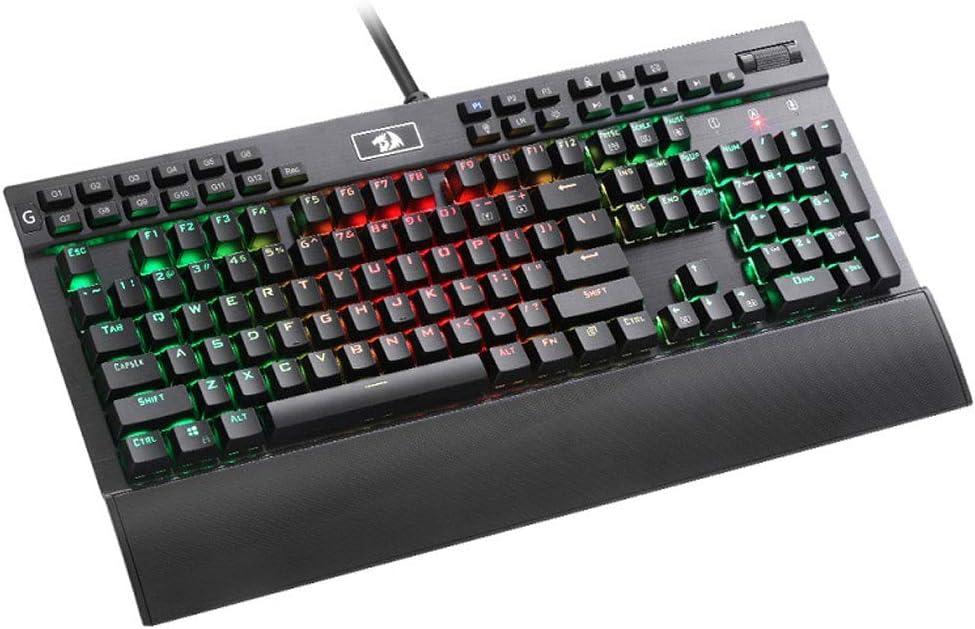 SONADY Gaming Keyboard -RGB LED Backlit Mechanical Gaming Keyboard USB Backlit Water Resistant with Led Rainbow Lighting -134 Keys Quiet Ergonomic