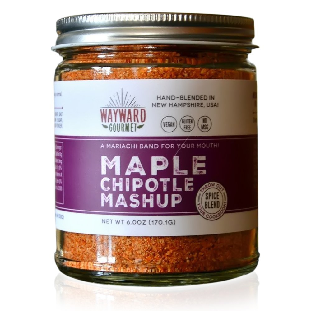 Maple Chipotle Mashup Rub & Seasoning by Wayward Gourmet - Sweet & Spicy Spice Blend for Ribs, Chicken & Steak - 6 oz.