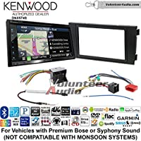 Volunteer Audio Kenwood DNX574S Double Din Radio Install Kit with GPS Navigation Apple CarPlay Android Auto Fits 2000-2008 Audi A6