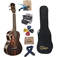 23-inch Hawaii ukulele rosewood professional concert Ukuleles send tuner trim folder thick piano bag