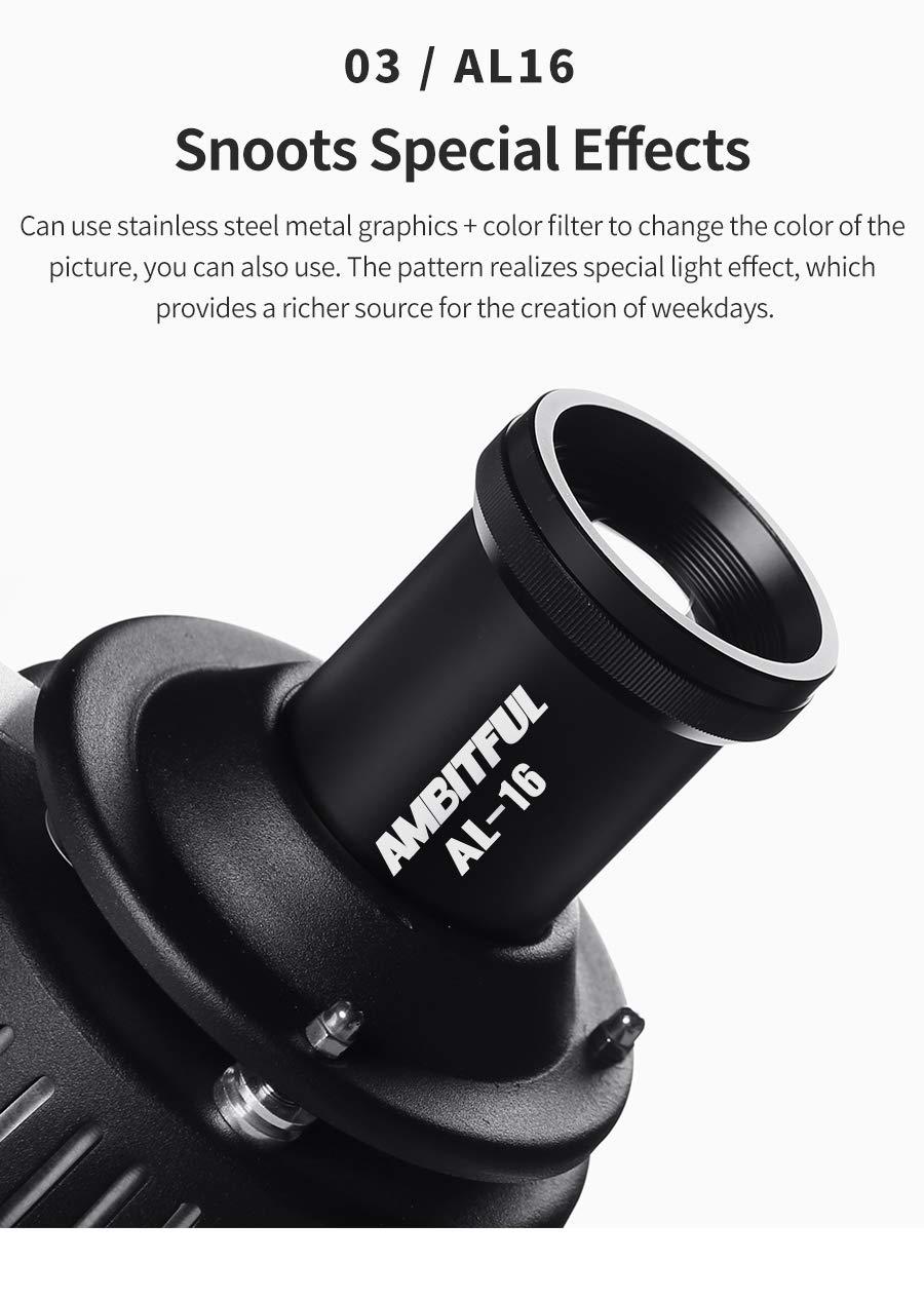 AMBITFUL Bowens Mount Optical Focalize Condenser Beam Light Cylinder Optical Focalize Art Photography Light Cylinder by AMBITFUL (Image #6)