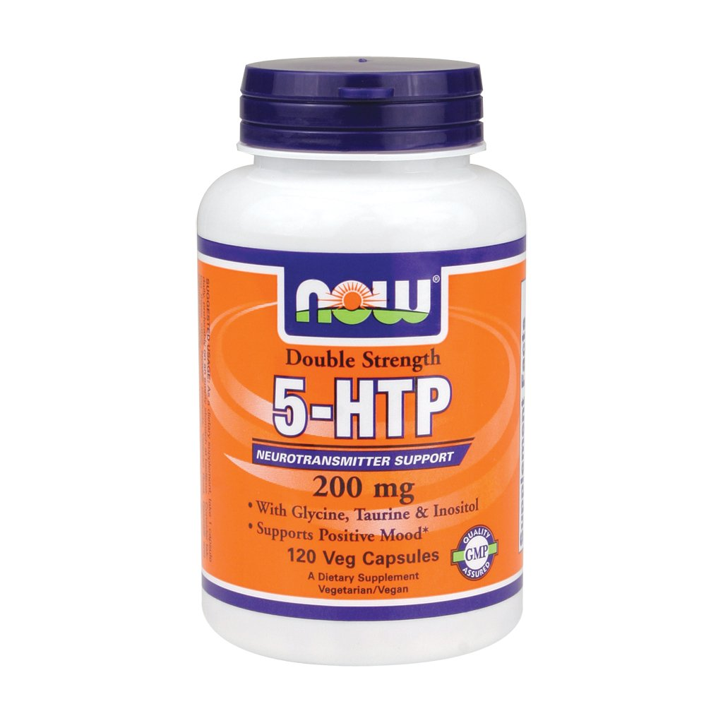 Now Foods Double Strength 5-HTP 200 mg (120 vc) 3 Pack