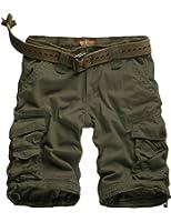 Match Cargo Shorts Sergé pour Homme #S3612