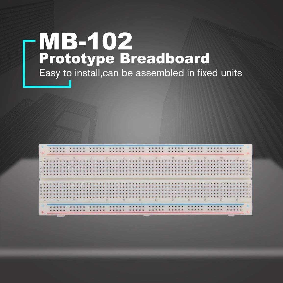 Couleur: Rouge Garciaria Planche /à Pain Prototype MB-102 pour Panneau de Circuit imprim/é Protoboard KIT DIY Prototype Universel BreadBoard 16.5X5.5CM 830Holes sans Soudure