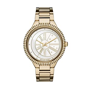 cd16ed5cd Michael Kors Women's Taryn Analog-Quartz Watch with Stainless-Steel Strap,  Gold,