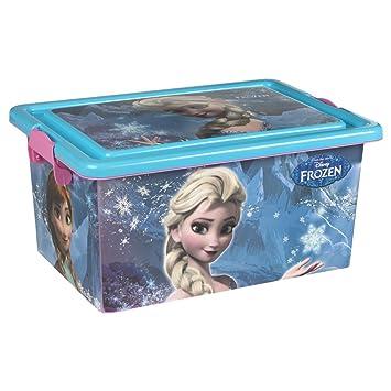 ColorBaby - Caja ordenación 13 litros, diseño frozen (76606)