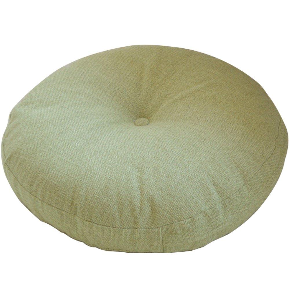 TINTON LIFE Solid Color Circular Yoga Bolster Zafu Meditation Tatami Cushion (Light Green, 17.7'')