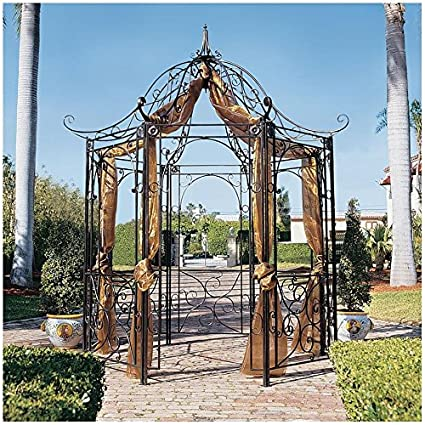 Design Toscano The Amelie Architectural Steel Garden Gazebo - Amazon.com : Design Toscano The Amelie Architectural Steel Garden