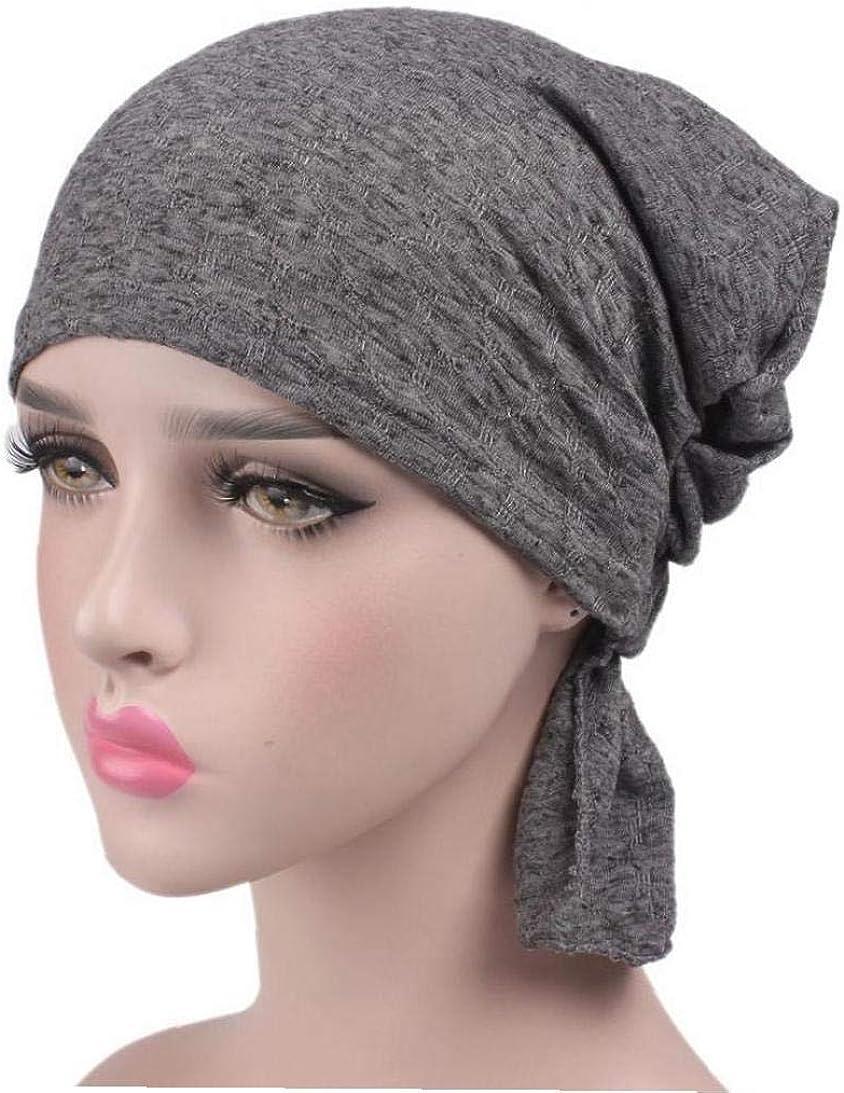 Chemo Turban Chapeaux Stretchy Turban Cap Dames Turban Brim Cap Pile Vintage Turban Cap pour Les Femmes